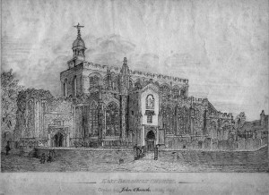 East Bergholt Church, copied by John Church, May 1852